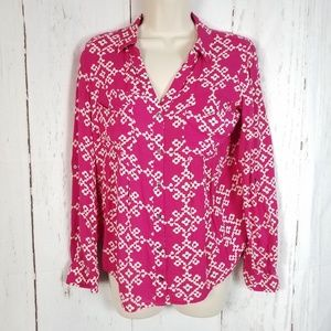 Anthropologie Maeve 6 Floral Medallion Print Shirt